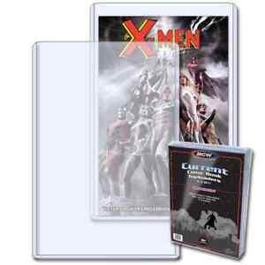 50 BCW Brand Current Modern Topload Comic Book Holders 7 x 10 3/4 x 3/16