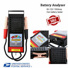 6V12V Car Van Auto Battery Tester Load Drop Charging System Analyzer Tool 100AMP