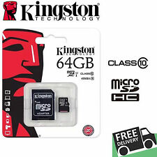 KINGSTON 64GB SDXC MICRO SD CARD MEMORY CLASS 10 CAMERA MOBILE TABLET