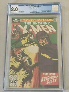 UNCANNY X MEN #142 CGC 8.0 EVERYBODY DIES MARVEL COMICS