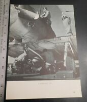 """SBD Dauntless being """"bombed up"""" Two-sided WWII Black & White Magazine  carrier"""