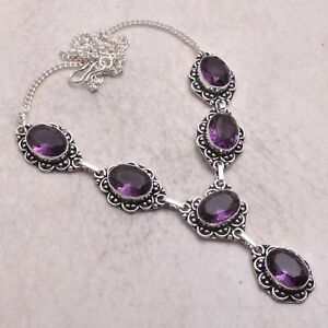 Amethyst Ethnic Handmade Necklace Jewelry 27 Gms AN 57507