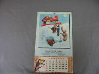 LAWSON WOOD MONKEY ADV CALENDAR WALLY TIRES-GT FALLS/BILLING MT - 1956