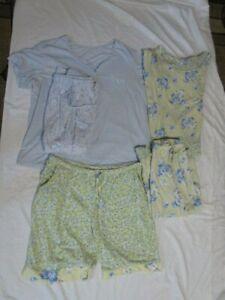 Carole Hochman Sleepwear Top w 2 Bottoms & One More Pair!
