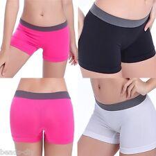 1X NEW Womens Fashion Sport Gym Workout Waistband Underwear Pants Yoga Shorts