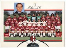 Fotografia MILAN Calcio 1989-90 Mediolanum Silvio Berlusconi Cartolina Foto 1990