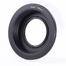 M42 Montaggio A Vite Obiettivi Adattatore Anello w/Vetro a Nikon D810 D750 D7200