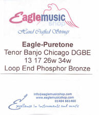 "Eagle-Puretone Tenor Banjo String Set ""Chicago"" Tuning DGBE 13, 17, 26W, 34W"