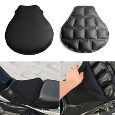 Large Black Motorcycle Seat Cushion Air Pad Mesh Cover w/ Inflator Accessories