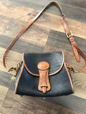 Dooney & Bourke All Weather Leather Crossbody Shoulder Bag Black And Brown
