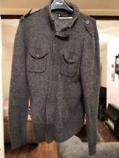 Mens Burton Grey Premium Wool Blend Zip Fleece Size M