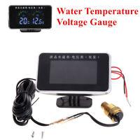 Universal 12V/24V Car Truck Voltage Gauge Water Temperature Thermometer sensor