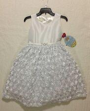 NEW AMERICAN PRINCESS FORMAL DRESS WHITE WEDDING FLOWER GIRL PLUS SIZE 12.5