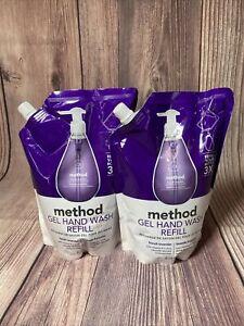 2 Lot Method Gel Hand Wash Soap Refill, French Lavender, 34 Oz Each