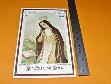 CHROMO 1886 IMAGE PIEUSE CATHOLICISME RELIGION SANTA ROSA DE LIMA
