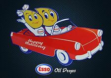 Magnet Advertising Esso Oil Drops Happy Motoring Automobile Car Convertible