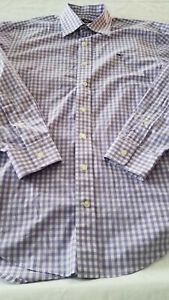 Vineyard Vines Whale Shirt 100% Cotton Long Sleeve Buttons Checkered Mens Small