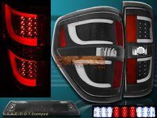 09-14 Ford F150 XL XLT STX Black Housing LED Tail Lights G2 + 3rd Brake Light