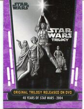 Star Wars 40th Anniversary Purple Base Card #88 Original Trilogy Released on DVD