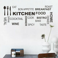 Quote Wall Stickers Vinyl Art Mural Decal Removable CLLL Kitchen Ru Decor H L0C0