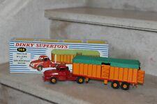 dinky supertoys meccano France  36B tracteur willème & semi-remorque bachée