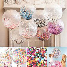 "UK 5X Colorful Confetti Balloon Birthday Wedding Party Decor Helium Balloon 12"""
