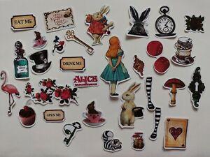 30pcs/box Vintage Alice in Wonderland stickers