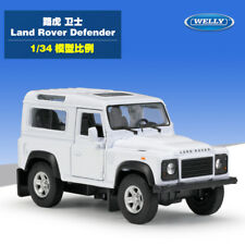 Welly 1:34 Land Rover Defender SUV Diecast Metal Model Car New in Box White