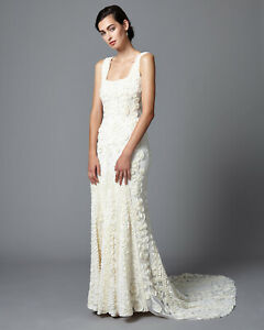 Pearl Lace 3D Phase Eight Bridal Pandora Wedding Dress, Ivory RRP £750 UK 8