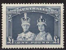 Australia 179 Sg 178 1£ Blue Royal Couple Mnh Vf 1938 Scv $115.00