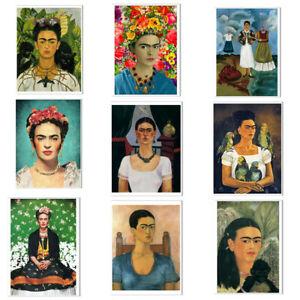 Frida Kahlo Poster pintor pared arte de la lona sin enmarcar cuadros página
