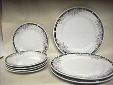 "8 McCrory Stores Lavender Floral Design plates 5- 7 ½"" plates, 3 10 ½"" plates"