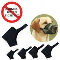 XXS-XXL Dog Puppy Muzzle Stop Barking Bite Mesh Mask Mouth Cover Training Safety