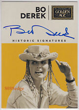 2014 PANINI GOLDEN AGE HISTORIC AUTO: BO DEREK - ON CARD AUTOGRAPH SEX SYMBOL 10