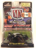 M2 Machines Detroit-Muscle '71 1971 Plymouth Hemi Cuda Black Die-cast 1/64 Scale