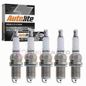 5 pc Autolite Double Platinum Spark Plugs for 2005-2014 Volkswagen Jetta mc