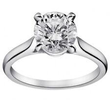 anello solitario donna in oro bianco 18kt, solitario con diamanti naturali ct007