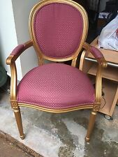 Ethan Allen Ornate Country French Gold Arm Chair