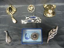 Job lot of 7 Vintage Brooches Napier/Ciro/Monet etc