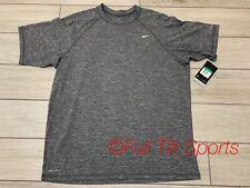 NEW Nike Men's Dri-Fit UPF40+ Grey Short Sleeve Training Shirt XL