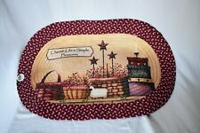 Collections etc, Printed Braided Rug, Life's Simple Treasures, 19 x 30 oval, new