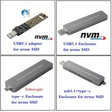 SSD Enclosure for ngff m.2 NVMe PCIE SSD to USB 3.1 Type C Hard Disk Drive Case