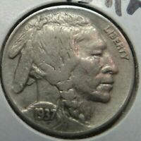 1937 D/D Buffalo Nickel AU+