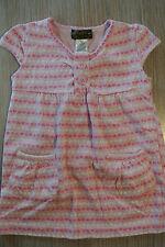 MISS MAJESTY Girls Size 4/6 Short Sleeve Pink Hearts Shirt Top Pockets *EUC*
