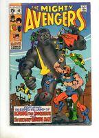 Avengers #69 1ST APP The GRANDMASTER! 1ST SQUADRON SINISTER! Marvel 1969 Fn 6.0!