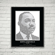 Martin Luther King Jr. Poster in his own words. Image made of MLK quotes!