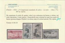 POSTA AEREA CALCIO SERIE COMPLETA SASS A69/72 MNH** FRESCA CENTRATA CERTIFICATA