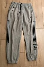 Adidas Grey Jogging Bottoms Trousers Large Men's Cuffed Warm
