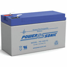 Power-Sonic PS-1290 12V 9Ah SLA Battery with F2 Terminals