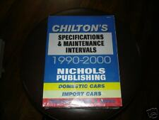 chiltons-90-00 specifications and maintence intervals